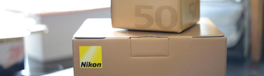 Nikon D800E mit Nikkor Lens AF-S 50mm f1.8G Box