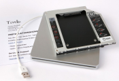 Macbook Unibody 2009/2010 2. HDD Optibay Adapter Kit Caddy Set External Case